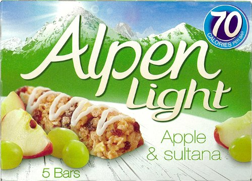 Barrita De Cereales Con Pasas Sultanas Manzana Y Yogur Alpen Light Bars Apple 95G. (