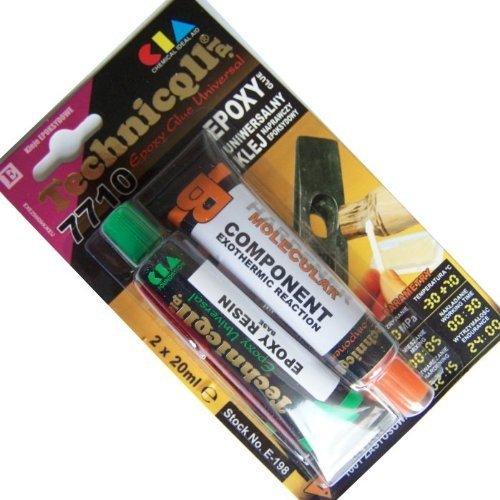 Technicqll Epoxy Adhesive Glue for PVC Metal Plexiglass Wood Ceramics Etc 2 X 20Ml Universal