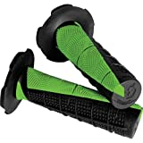 Scott Deuce MX/Off-Road/Dirt Bike Motorcycle Hand Grips - Black/Green / One Size