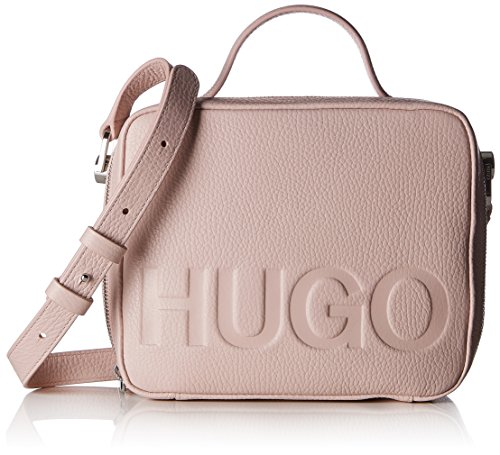 HUGO Women's Mayfair Box Shoulder Bag Pink (Light/Pastel Pink)