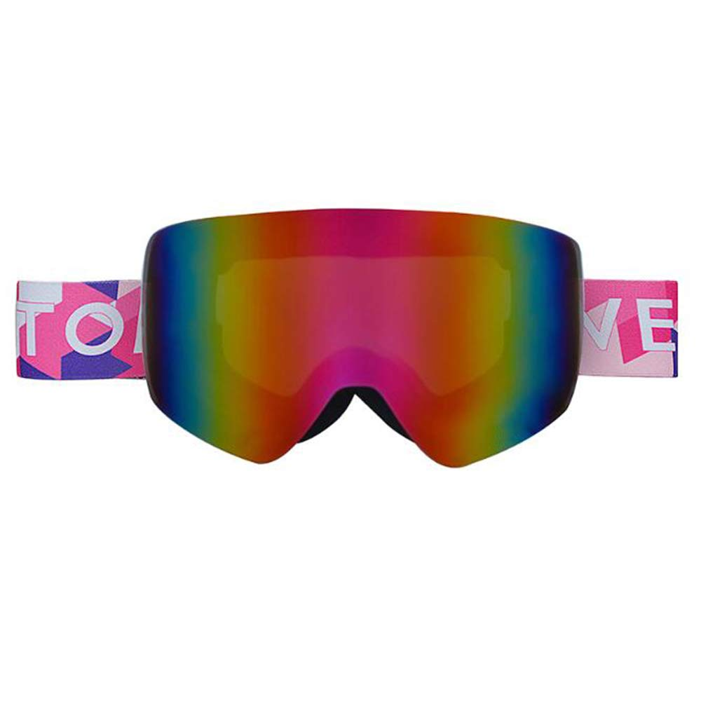 BZO Ski Snowboard Goggles Women Men Skiing Eyewear Mask Uv 400 Snow Protection Over Glasses Adult Double Anti-Fog Cylindrical Pink White by BZO