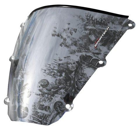 (Sportech Benjamin Series Windscreen for 2008-2010 Kawasaki ZX1000/600 Ninja ZX-10R/6R Models)