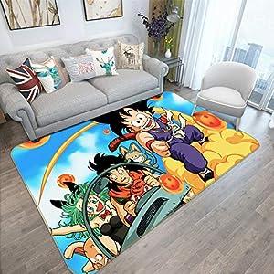 Lee My Tapis Anime Moderne Anime Dragon Ball Z Tapis Cartoon/Animation- avec Absorption Non Glissante - 3D Japan Anime Cosplay Multi-Tailles Multi-Modèle en Option Tapis,b,50 * 80cm 2
