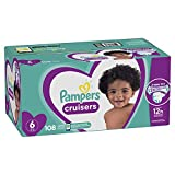 Diapers Size 6, 108 Count - Pampers Cruisers Disposable Baby Diapers, ONE MONTH SUPPLY (Packaging May Vary)