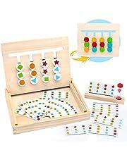 Jouets en Bois Puzzle de Tri Montessori avec Sablier Forme Couleur Jouets Éducatifs pour Garçons Filles 3 4 5 Ans