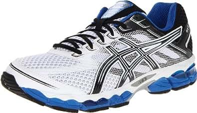 ASICS Men's GEL-Cumulus 15 Running Shoe,White/Black/Royal,14 4E US