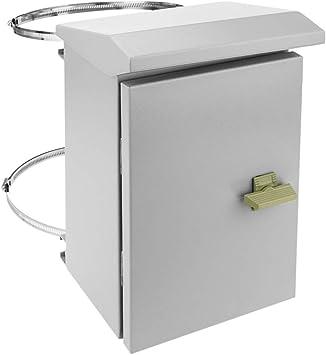 BeMatik - Caja de distribución eléctrica metálica con protección IP65 para fijación a Poste 200 x 300 x 150 mm: Amazon.es: Electrónica