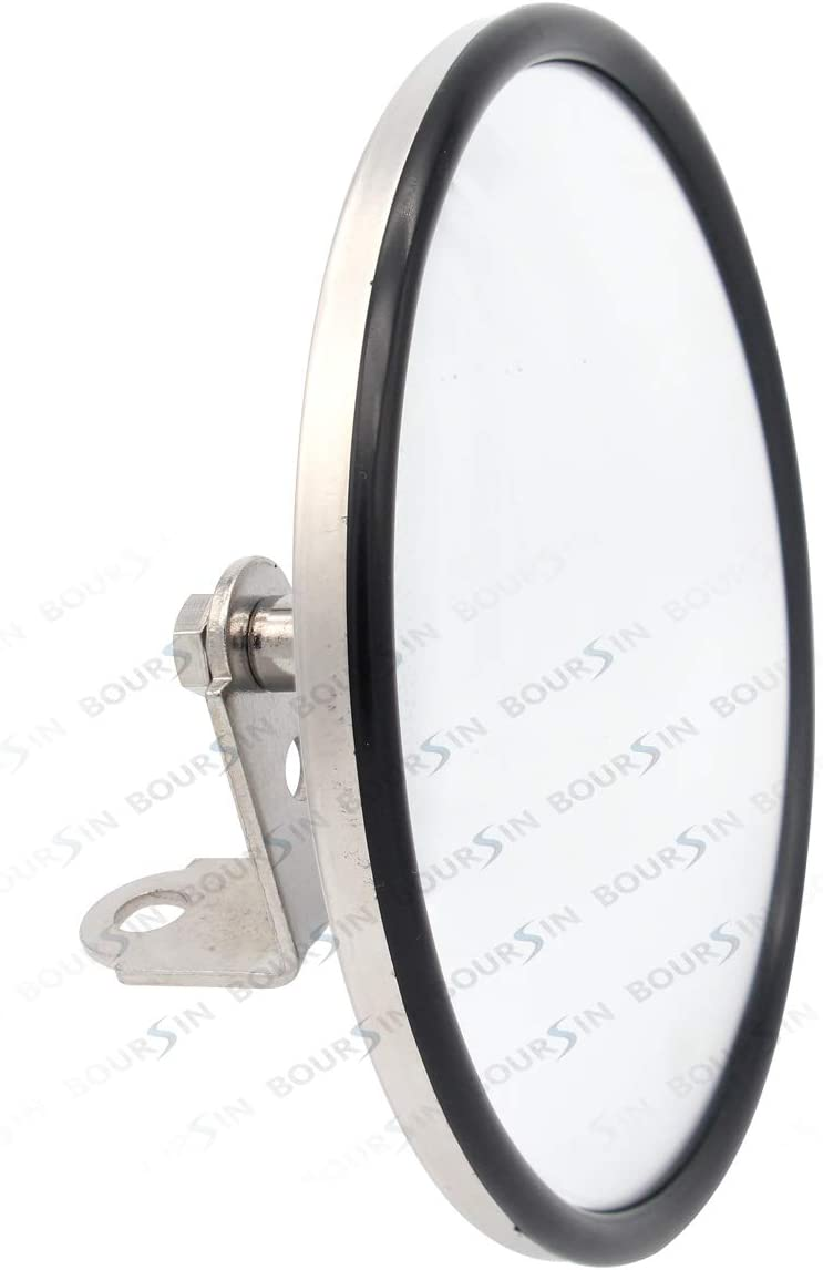 6 Convex Blind Spot Round Side Door Mirror For Isuzu NPR NPR-HD NQR NRR FSR FVR FRR GMC Chevrolet Adjustable Brackets