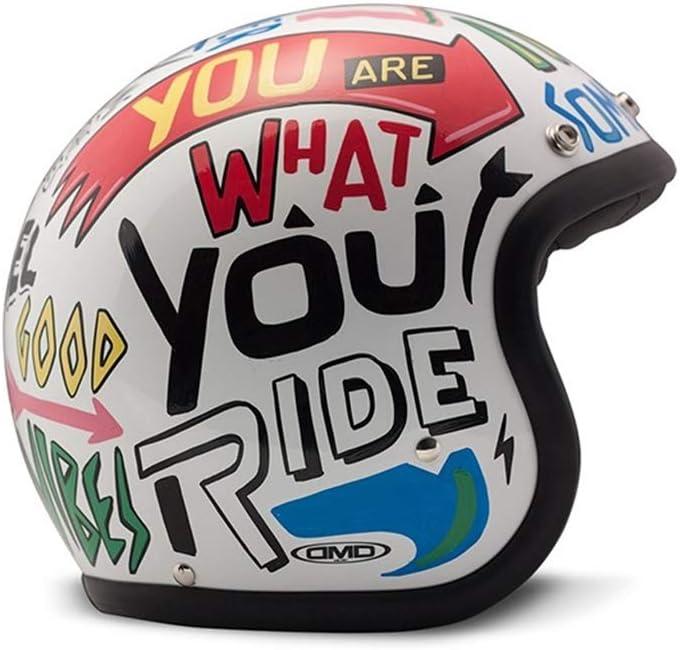 mattschwarz Unisex Glitzer DMD Motorradhelm XL