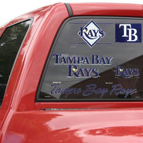 - Wincraft MLB Tampa Bay Rays 11737482 Multi Use Decal, 11