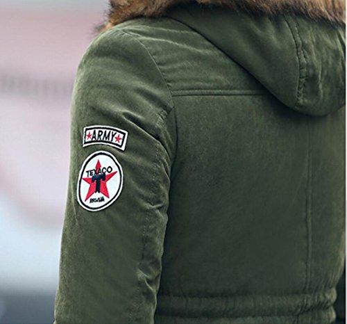 Collare Degli Militare Generici Caldo Verde Di Addensare Imbottito Pelliccia Uomini Piumini waqaT1tr