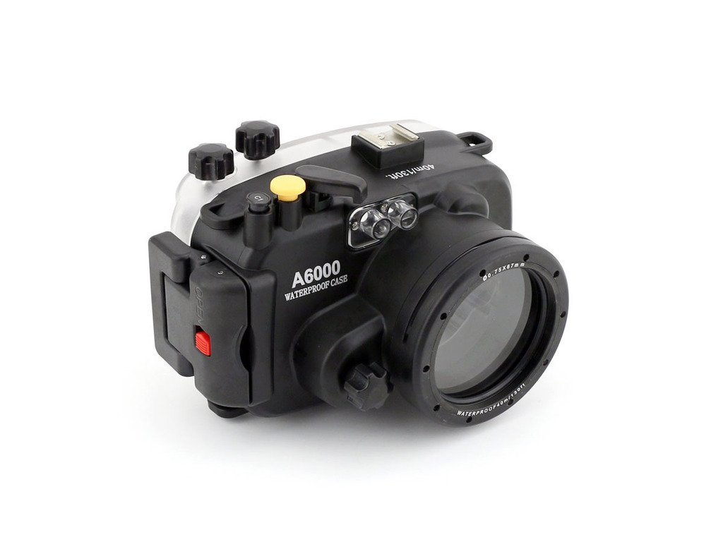 Polaroid SLR Dive Rated Waterproof Underwater Housing Case For The Sony A6000 Camera with a 16-50mm Lens