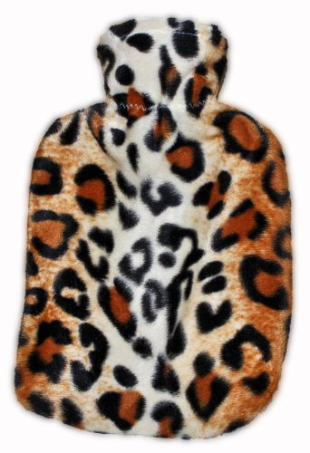 Warm Tradition Leopard Print Covered Hot Water Bottle- bottle Made in Germany, cover made in USA