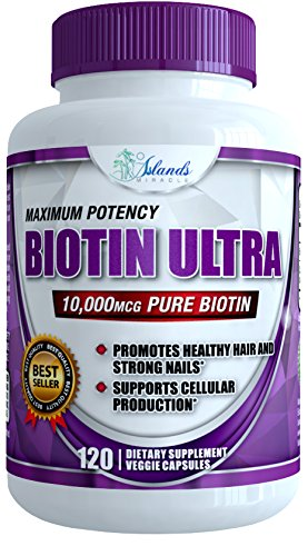 Biotin 10,000mcg 120 Capsules Best Vitamins For Hair Growth and Strong Healthy Nails