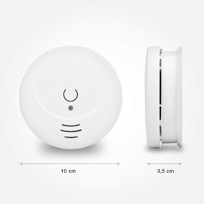 Uyuke Detector de mon/óxido de Carbono Detector Detector de Gases t/óxicos Detector de Humo de Alta sensibilidad para Oficina en casa
