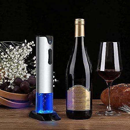 Sacacorchos automáticos, sacacorchos de vino eléctrico, kit de sacacorchos de vino con cortador de papel de aluminio, adecuado como regalo para los amantes del vino