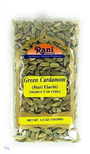 Rani Green Cardamom Pods Spice (Hari Elachi) 3.5oz (100g) ~ Natural | Vegan | Gluten Free Ingredients | NON-GMO