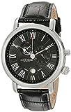 Akribos XXIV Men's AK593BK Swiss Multi-Function Leather Strap Watch