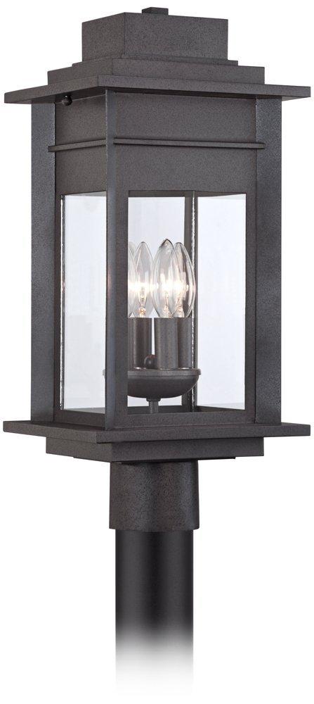 Bransford 19 1/2''H Black-Speckled Gray Outdoor Post Light