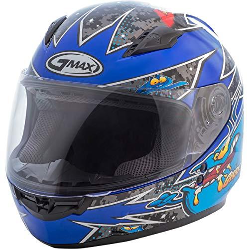 GMAX Unisex-Adult Style G7496212 TC-2 Gm49Y Full Face Street Helmet Alien Black/Blue Youth l Large