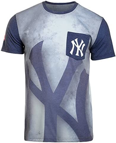 Klew 2016 MLB Baseball Mens Cotton Poly Pocket Logo Tee T-Shirt - Pick Team
