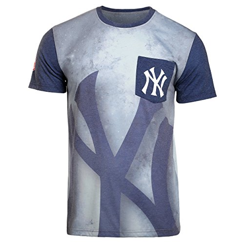 - 2016 KLEW MLB Baseball Mens Cotton Poly Pocket Logo Tee T-shirt - Pick Team (New York Yankees, Medium)
