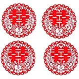 Amazon double happiness traditional chinese wedding peel and stick shuang xi double happiness chinese wedding decoration plastic junglespirit Images