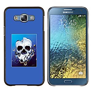 EJOOY---Cubierta de la caja de protección para la piel dura ** Samsung Galaxy E7 E700 ** --Derretido cara del cráneo
