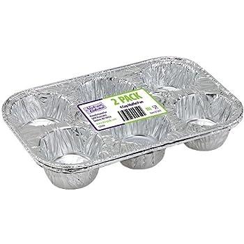 Amazon Com Aluminum Muffin Pans 6 Compartments 2