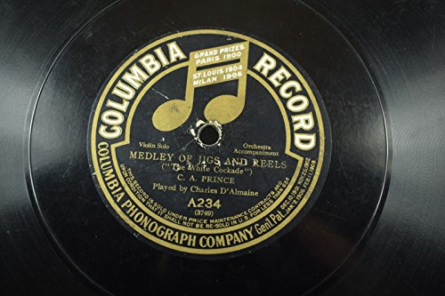 Charles D'Almaine Jazz-Columbia Phonograph Co.-78 RPM-Medley Of Jigs And Reels