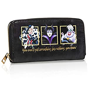 Disney Villains Ladies Purse | Disney Wallet Featuring Maleficent And Cruella Deville | Disney Villains Gifts For Girls…