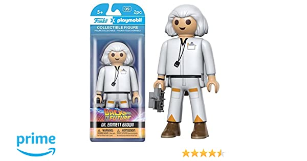 Funko - Figurine Retour Vers Le Futur Playmobil - Emmet Brown 15cm - 0849803079628