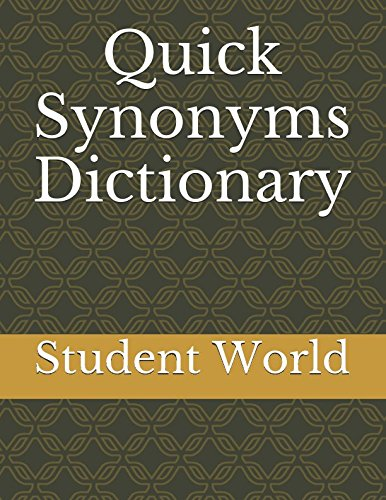 Quick Synonyms Dictionary ebook