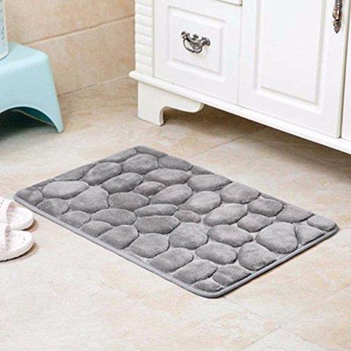 3D Carpet and Rugs 40*60CM 3d Cobblestone Rugs Carpets For Living Room Rectangle Doormat Kitchen Bathroom Mat Grey