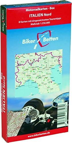Motorradkarten Box Italien Nord Landkarte – Folded Map, 1. Juli 2016 TVV Touristik-Verlag GmbH 3937063277 Gardasee Geografie