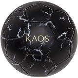 KAOS Gotham Black Marble, Training and Recreation Soccer Ball, Black w White, Size 5