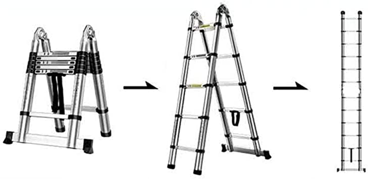 Escaleras de tijera Escaleras De Extensión Escalera Telescópica De Aluminio Telescópica Tipo A Extensión Multiuso 5 Tamaño (Size : 2.35m): Amazon.es: Bricolaje y herramientas