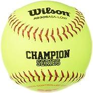 Wilson Sporting Goods A9306 ASA Series Softball (12-Pack), 11-Inch, Optic Yellow (WTA9306BASA-LOW)