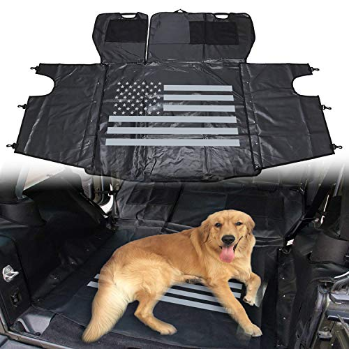 - Yoursme Universal Pet Dog Car Seat Cover US Flag Rear Cargo Liner Seats Protector Trunk Multipurpose Storage Case Hammock for 2007-2018 Jeep Wrangler JK 4 Doors
