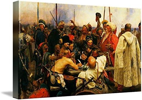 """Fine art print 20/"""" x 28/"""" NEW Zaporozhian Cossacks By Ilya Repin"""
