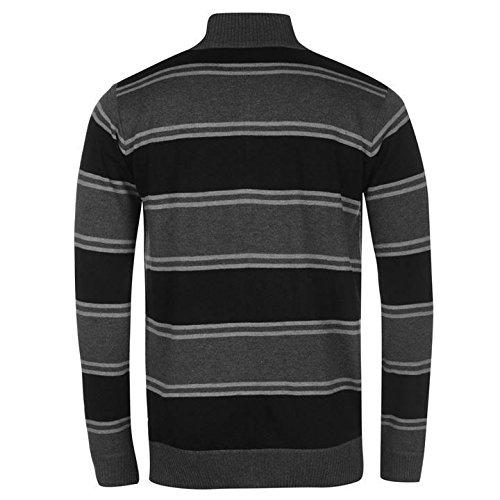 Lee Cooper en tricot avec fermeture Éclair Pull pour homme Gris anthracite/noir Sweat Top