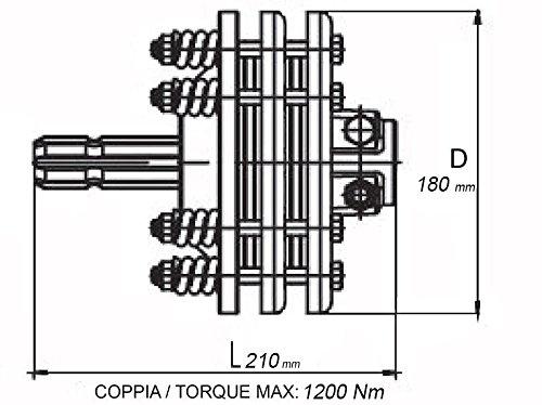 trattore limitatore per cardano Nm 1200 Frizione F3 omologata diametro 18
