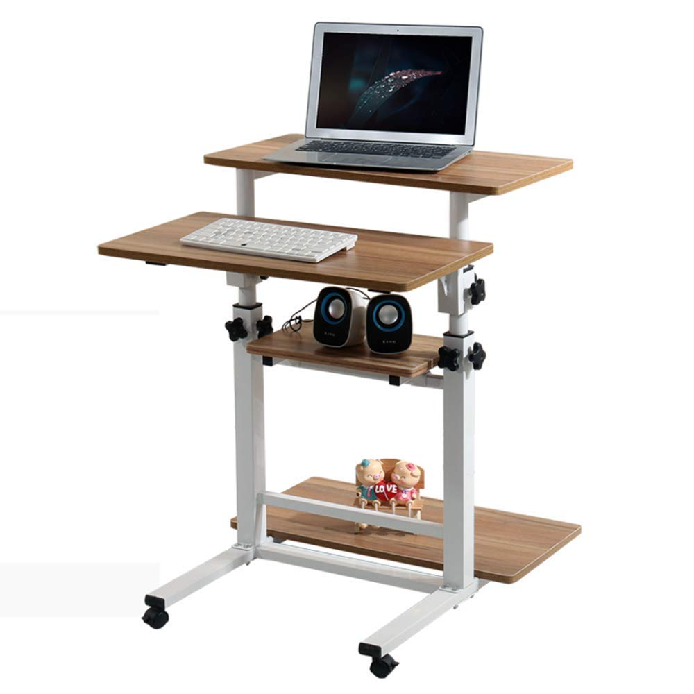 LIULIFE Mobile Desktop Computer Desk Home Office Adjustable Lifting Writing Table