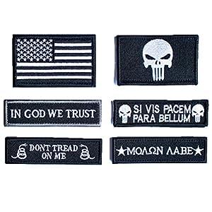 Bundle 6 Pieces Tactical Military Morale Patch Set