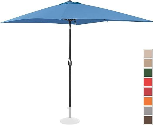 Uniprodo Sombrilla Grande Parasol De Jardín Uni_Umbrella_TSQ2030BL ...