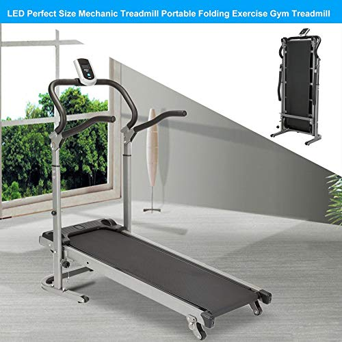 Homgrace Folding Manual Treadmill Running Machine with Incline Settings (Black) by Homgrace (Image #2)