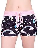 Shorts for Women - Unicorn Print Pajama Shorts Hot Pants