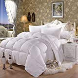 MeMoreCool 100% White Duck Down Comforter,Three-dimensional High-grade Cotton Jacquard Duvets Core,Pink/White Down Comforter