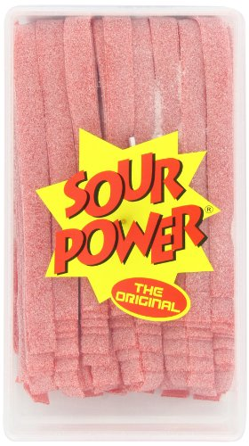 Sour Power Belts, Strawberry (150-Count Belts),  42.3 Ounce Tub