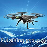 Mingruie X53 Wireless 2.4GHz 4Axis 2.0MP HD Camera Video RC Quadcopter One Key Take Off Headless Mode Altitude Hold UFO